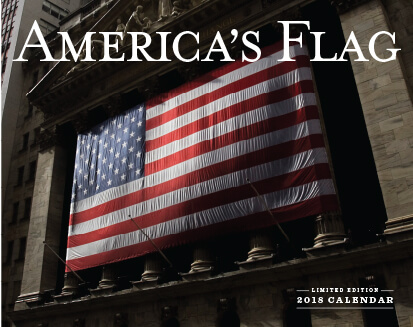 2018 Patriotic American Flag Calendar