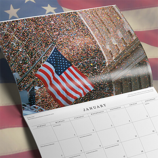 2018 Patriotic American Flag Calendar - January preview