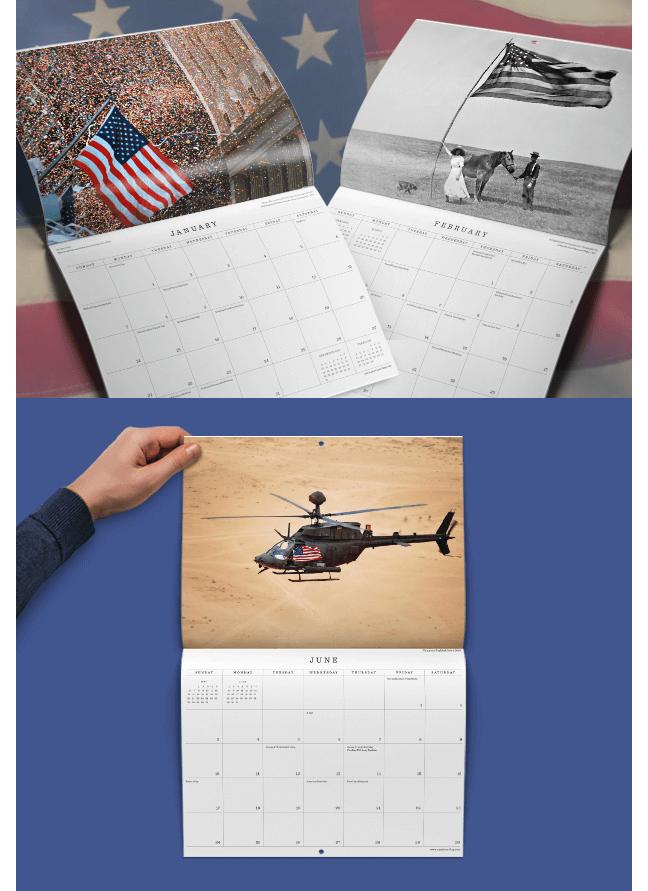 America's Flag Calendar 2018 preview