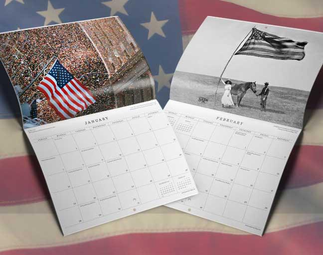 America's Flag 2018 Wall Calendar